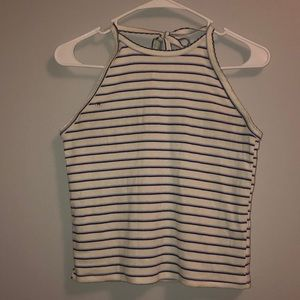 American Eagle striped halter tank top